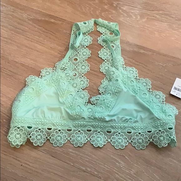 Aerie Intimates Sleepwear Mint Crochet Bralette Top Small Poshmark